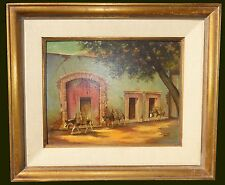 Vintage Spanish Style Mule Oil Painting Signed by Albert Ennis California Artist
