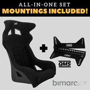 Bimarco-Hummer-Racing-Seat-BLACK-VELOUR-Set-with-Bracket-Mountings-Included