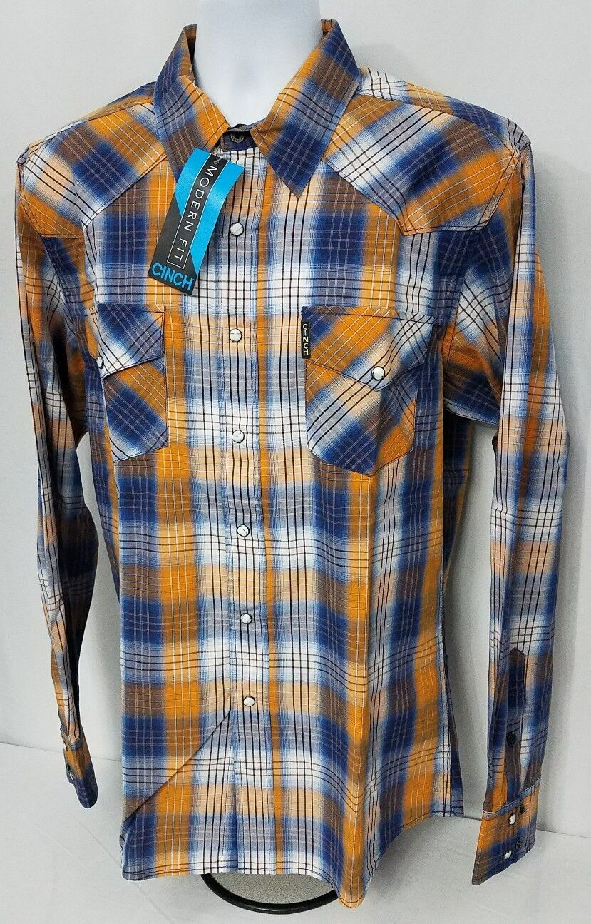 27464a7a Cinch Western Modern Fit shirt snap in men's size XS Cowboy front ...