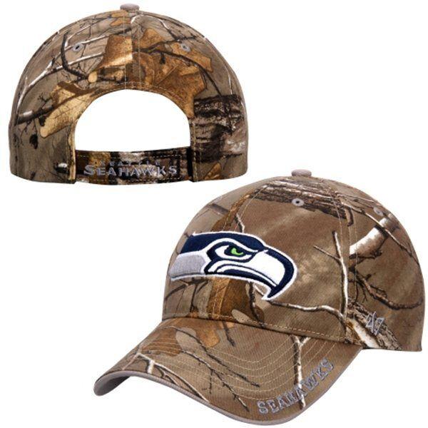 de3a8bb6 Seattle Seahawks Camo Hat NFL Realtree Frost Xtra by 47 BRAND