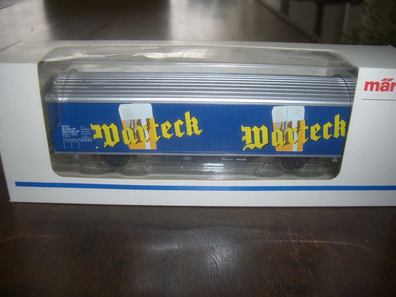 Marklin beer vagon  HO Wartech Switzerland  bier boxed