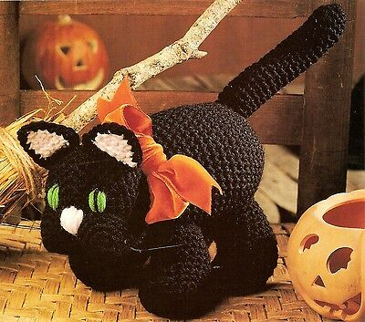 HALLOWEEN Boo Kitty/Decor/Toy/ Crochet Pattern INSTRUCTIONS ONLY