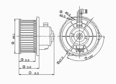 HVAC Blower Motor Front TYC 700086 fits 02-04 Nissan Altima