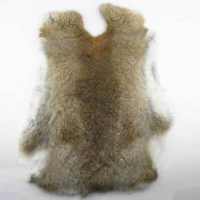 1Pcs Genuine Naturally Rabbit fur skin tanned Leather Hides craft Gray Pelts Hot