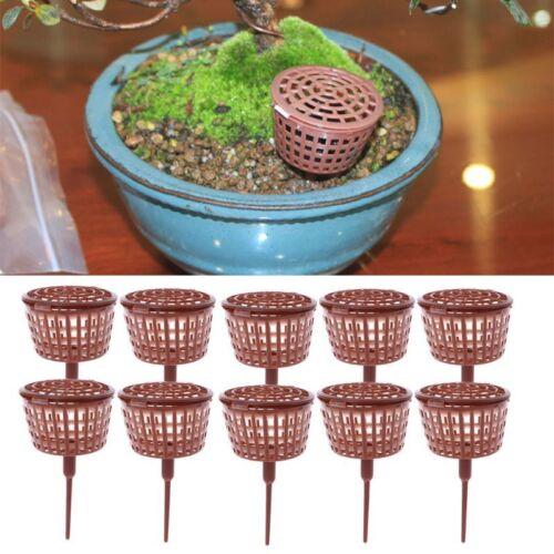 10x Bonsai Tool Fertilizer Cover Basket Box Plant Bug Portable Nursery Pot