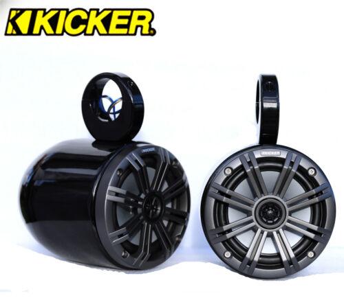 "Black Wakeboard Tower 6.5/"" Speaker Kicker 45KM654CW 390Watt Marine Speaker"
