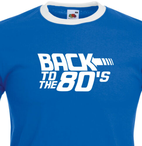 Back To The 80/'s Neon Pink Print Fancy Dress Dance Club Top 1395 Ringer T Shirt.