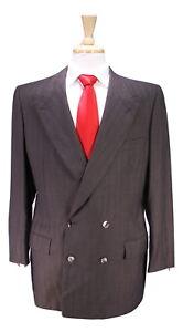 Db Marron Brioni Épi Vintage Wool Suit W violet btn Rayure En 2 qzOZ7zw
