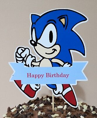 Sonic The Hedgehog Cake Topper Party Centerpiece Decoration Happy Birthday 16cm Ebay