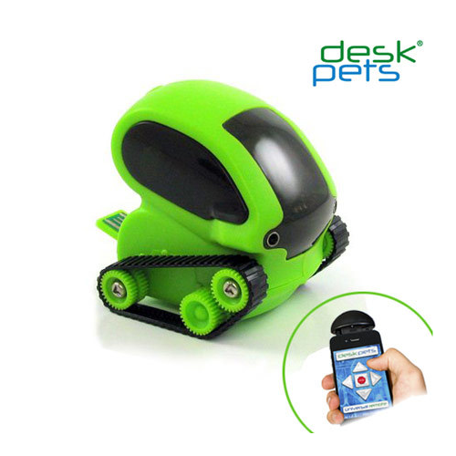 Desk Pets Tankbot Micro Robotic App Controlled Tank With 3 Play Modes, Green | eBay