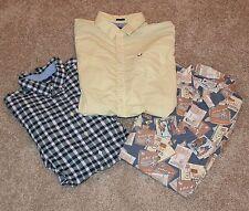 (3) Button Up Dress Shirt Lot Men's XXL 2XL Chaps Columbia American Eagle shirts