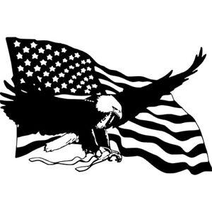 Bald Eagle American Flag Wall Car Truck Laptop Window Vinyl Sticker