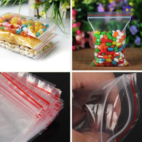 100pcs 9x13cm Ziplock Zipped Lock Reclosable Plastic Poly Clear Seal Bag New SU2