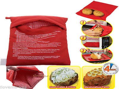 New Cooker Bag Baked Potato Cooking Potato Microwave Washable FE