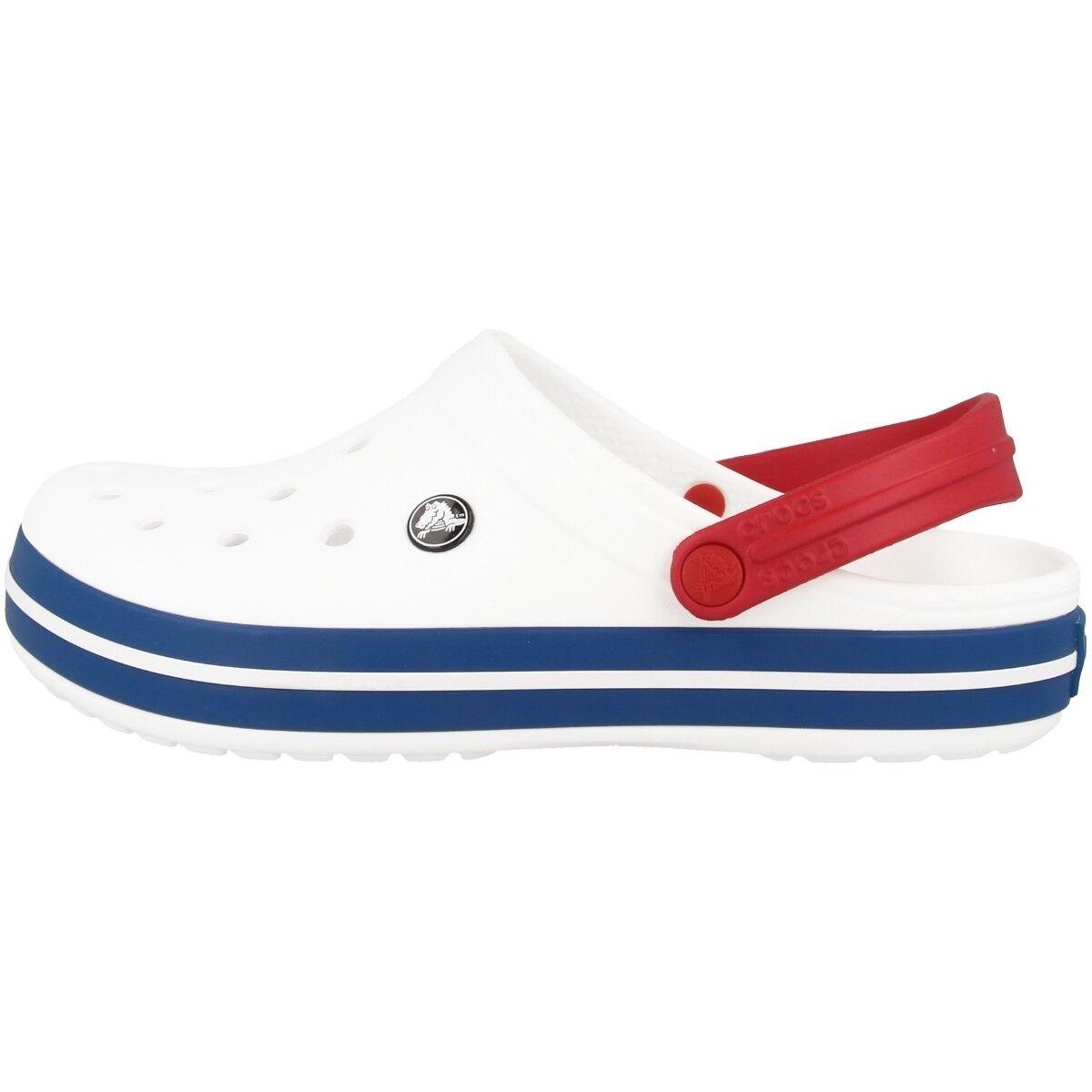 Crocs Crocband Zueco Azul Sandalia Zapatos de Baño Blanco Azul Zueco Vaquero 11016-11I 4e13c5