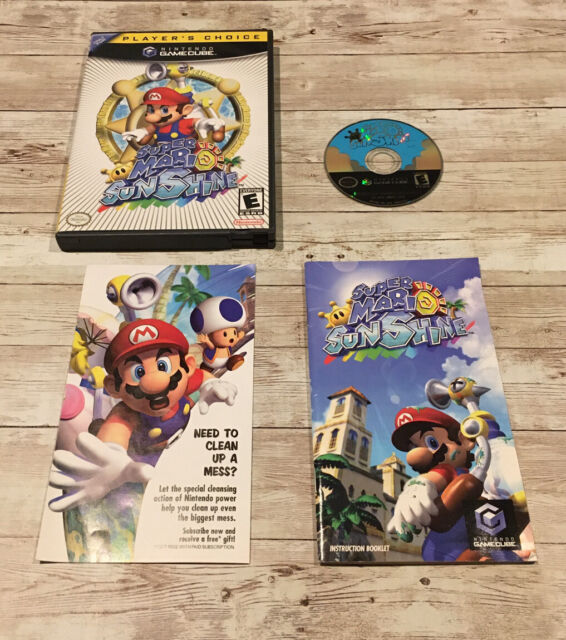 Super Mario Sunshine for Nintendo GameCube Video Game Complete with Manual