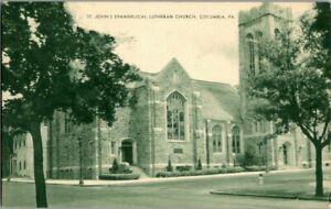 1940-039-S-COLUMBIA-PA-ST-JOHN-039-S-EVANG-LUTH-CHURCH-POSTCARD-T23