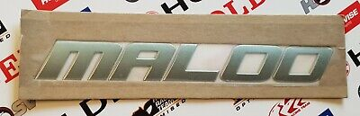 Maloo Chrome Script Side Skirt Badge X 2 For VY VZ HSV With Self Adhesive Back