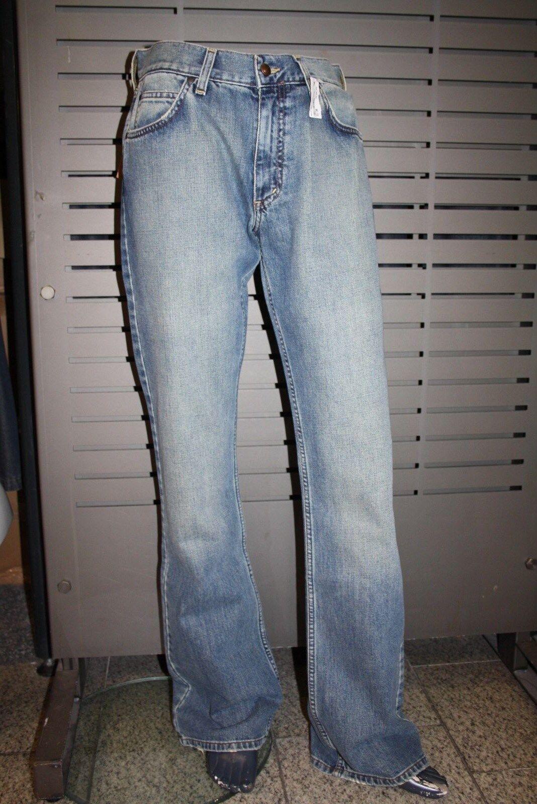 Mavi Jeans 597 Mitch Mitch Mitch a Campana Vita Bassa Stone blu Blu Nuovo Vintage 4446b6