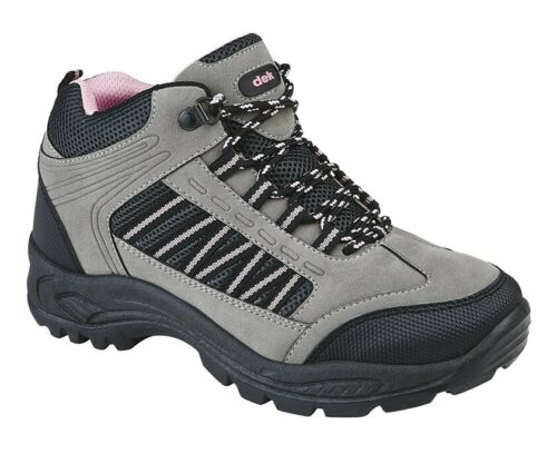 Femmes Randonnée Trekker Walking Trail Bottines Gris Et Rose Tailles 3 4 5 6 7 8