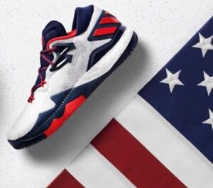 sale retailer 93d39 e68f0 Image is loading Adidas-Crazylight-Boost-Low-2016-Olympic-USA-Basketball-