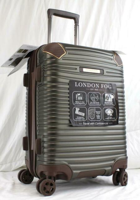 London Fog Knightsbridge 21 Expandable Spinner Carry On Suitcase Brown For Sale Online Ebay