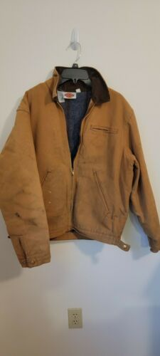 Dickies Tan  coat Mens Size Large L Insulated Line