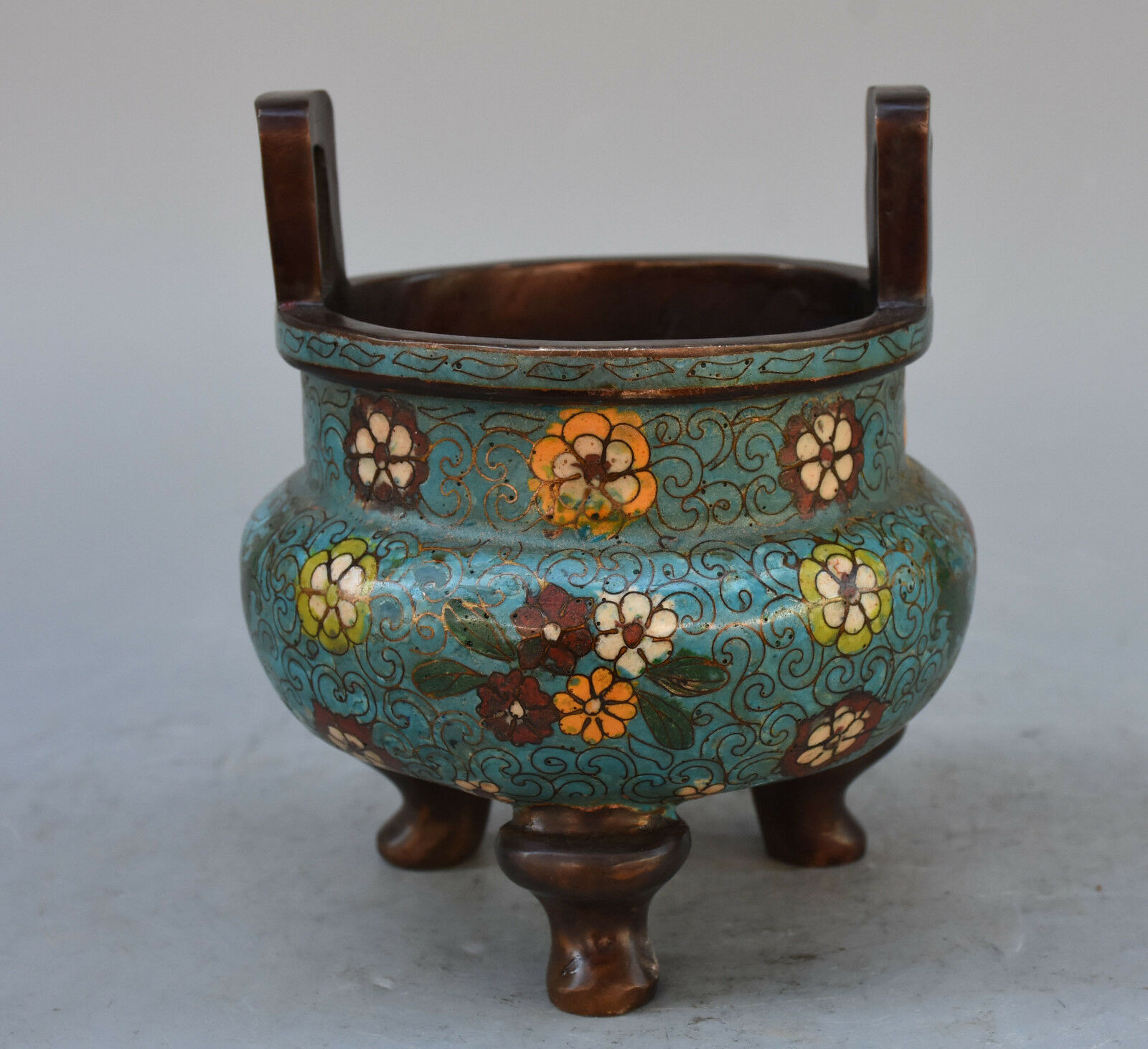 Nice Antique Very Old Chinese Turquoise Censer