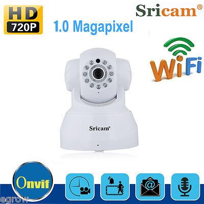 Sricam 720P CCTV IP Cámara Wifi ONVIF Seguridad Vigilancia IR Visión Nocturna EU