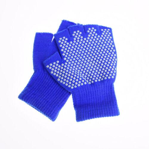 1 pair women cotton yoga fingerless non anti slip grip gloves sport exerciseRASK