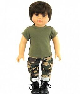 2-Pc-Army-Outfit-fits-American-Girl-Boy-Doll-Logan-18-034-Dolls