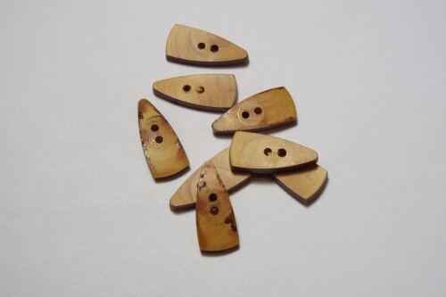 5pc 27mm light brown wooden toggle manteau blazer cardigan enfants bouton 2902