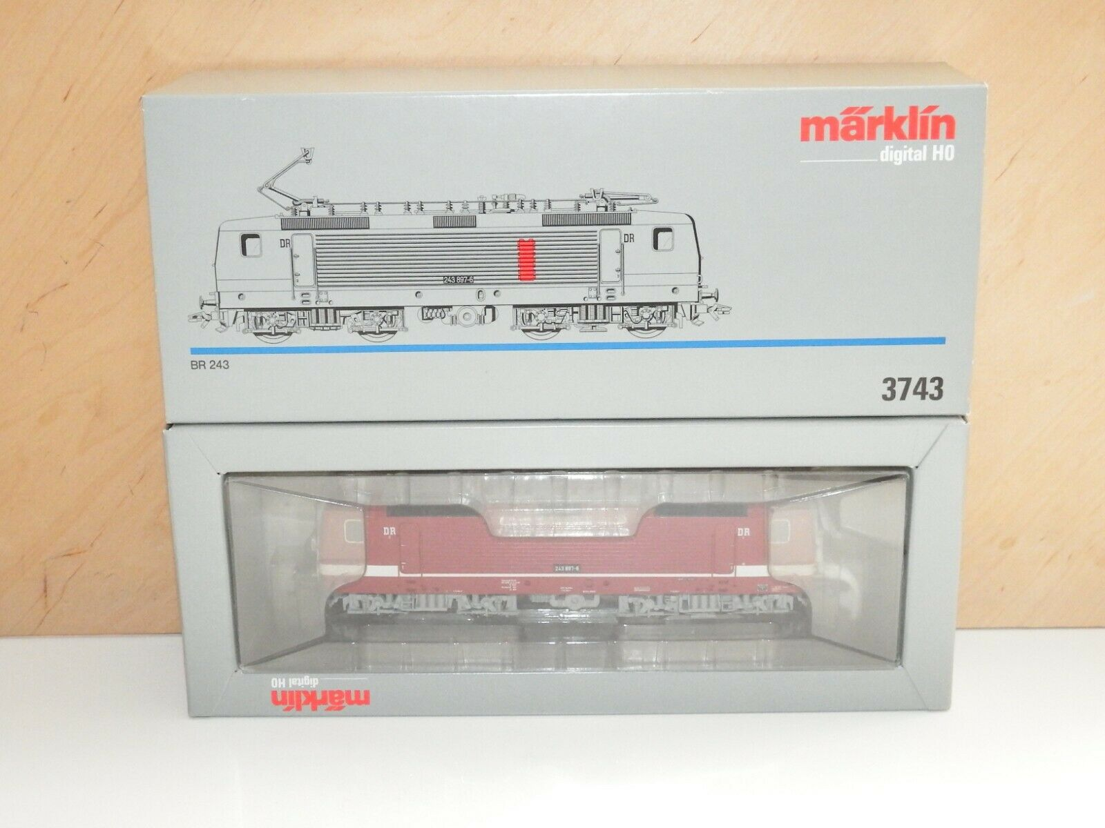 H0 3743 marklin Digital Elektrolok BR 243 DR MATTONCINI OVP 0872
