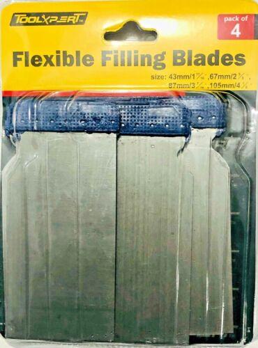 4X FLEXIBLE FILLING BLADE SCRAPER METAL WALL CEILING WOODWORK PUTTY SPREADER DIY