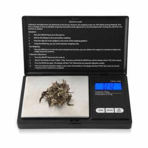 Pocket-Scales-Digital-Milligramm-Gewichte-Schmuck-Gold-Edelsteine-100g-PII