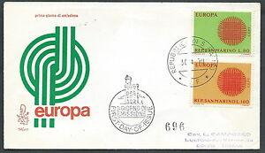 1970 San Marino Fdc Venetia 110 Europa Timbro Arrivo - Rd22