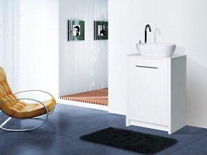 Designer Bathroom Vanity Basin Sink Unit Storage 550mm White Gloss Ebay