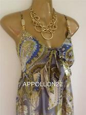 Monsoon ZAHARA Grecian Silk Maxi Dress sz 10 Wedding/Cruise/Holidays