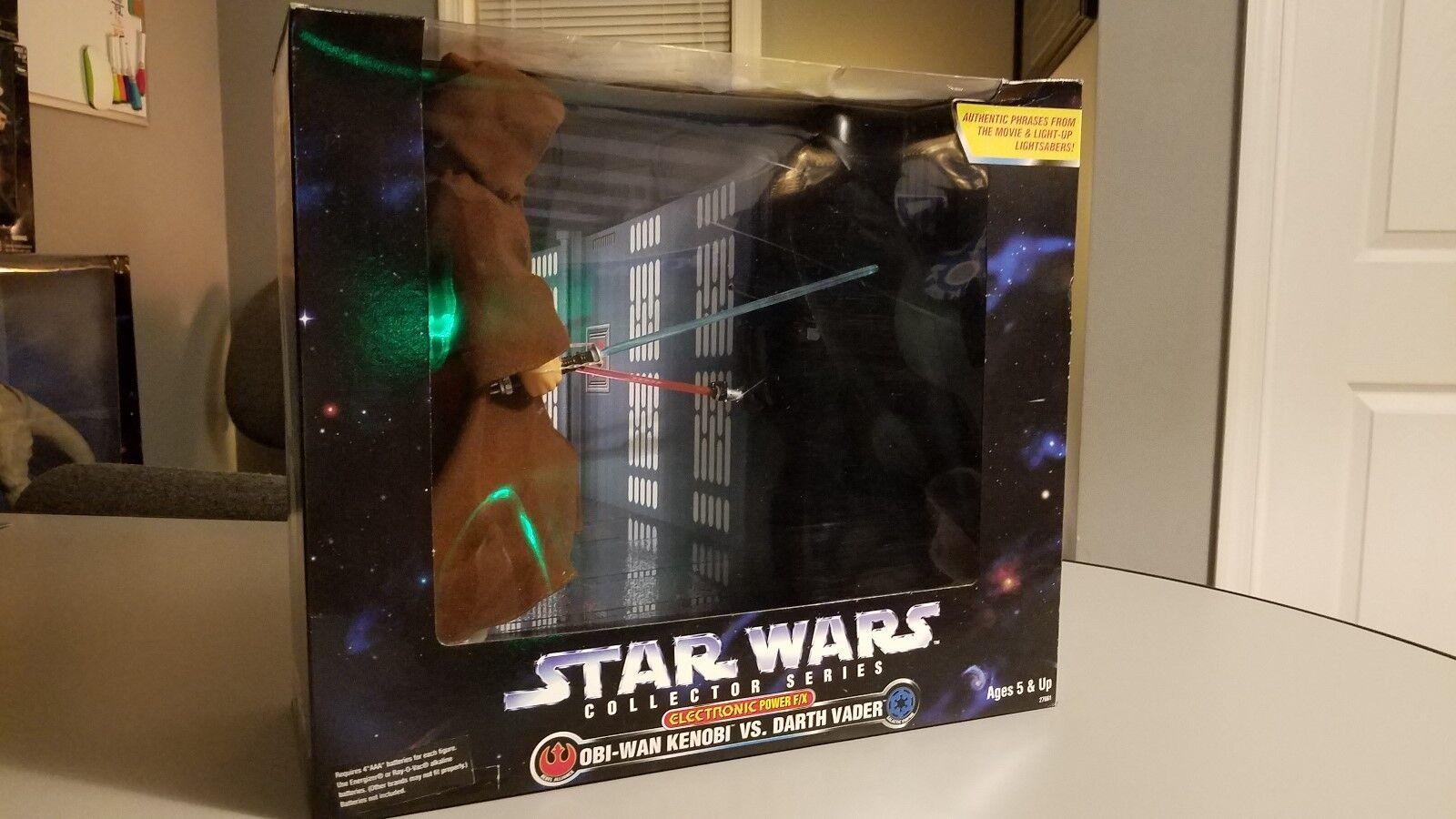 Star Wars Collector Series Electronic vs Darth Vader vs Obi Wan  Power F X 1997