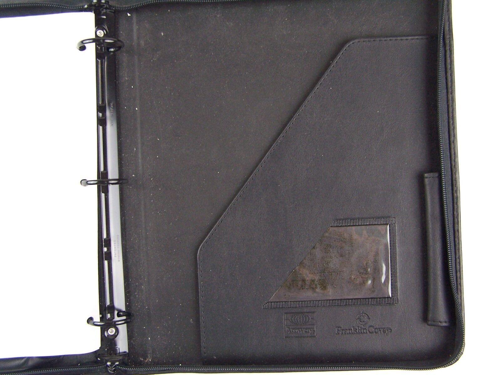 """Franklin Covey Planner Zipper Large 11""""x12"""" Excellent C"""