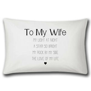 Details about My Wife Love Of My Life Pillow Case - Wedding Anniversary Gift - Christmas Gift  sc 1 st  eBay & My Wife Love Of My Life Pillow Case - Wedding Anniversary Gift ...