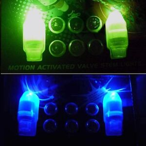LED TIRE LIGHT WHEEL NEON TYRE STEM VALVE CAPS CAR BIKE #1: s l300