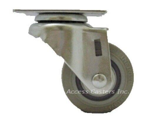 "Infiniti Wheel 250 lbs Capacity 35P20NS 3-1//2/"" x 1-1//4/"" Swivel Plate Caster"