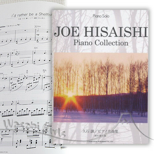 Joe Hisaishi Piano collection Piano Solo Sheet Music Book