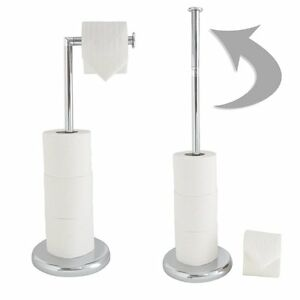 Stand Alone Toilet Roll Holder Chrome Interior Design