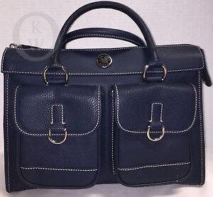Dooney & Bourke*Front Pocket Satchel*Marine Blue*w/Accessories 17092i S151    eBay
