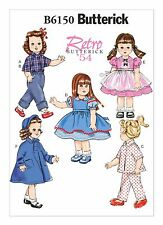 """B6150 Sewing Pattern Retro 1950 Doll 18"""" Clothes Home Craft Patron de Couture"""