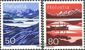 Schweiz-1459-1460-kompl-Ausg-gestempelt-1991-Bergseen