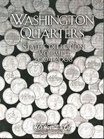 Coin Folder - State Quarters 2004 - 2008 Washington Set - Harris Album 2581