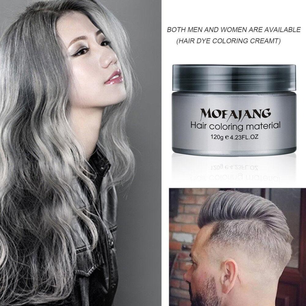 Mofajang Dye Unisex Grey Hair Color Mud Wax Molding Silver Gray